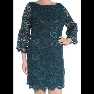 NEW Women's Short Dresses Size 14 w/ Sleeves Green